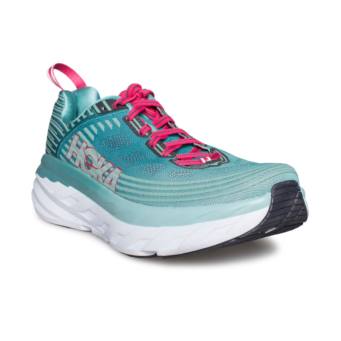 HOKA ONE ONE Bondi 6 Canton / Green-Blue Slate Running Shoes - Women's