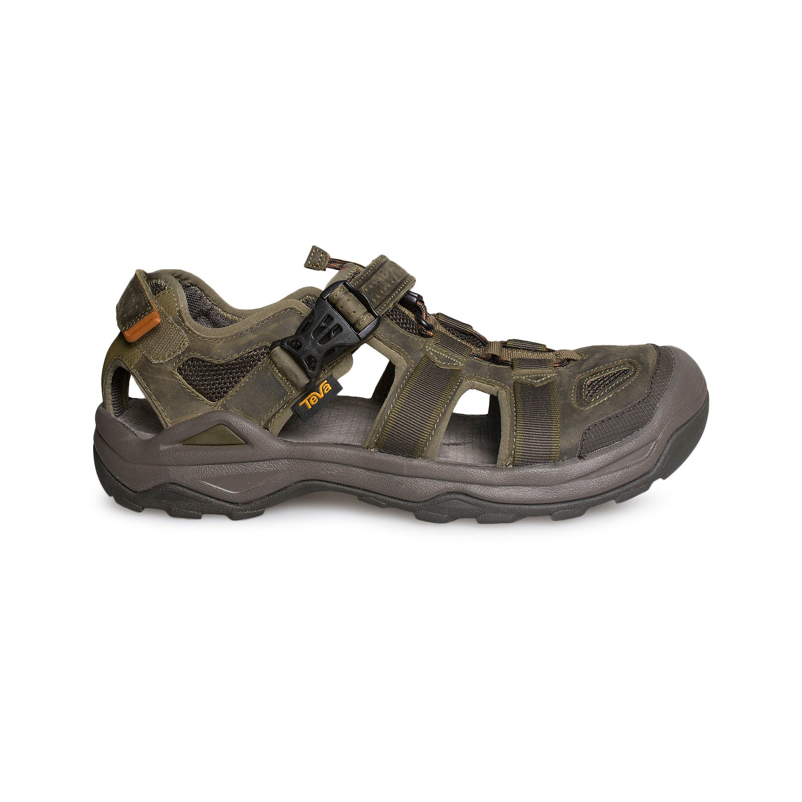 14b99f0e5 Teva Omnium 2 Leather Dark Olive Sandals - Men s - MyCozyBoots
