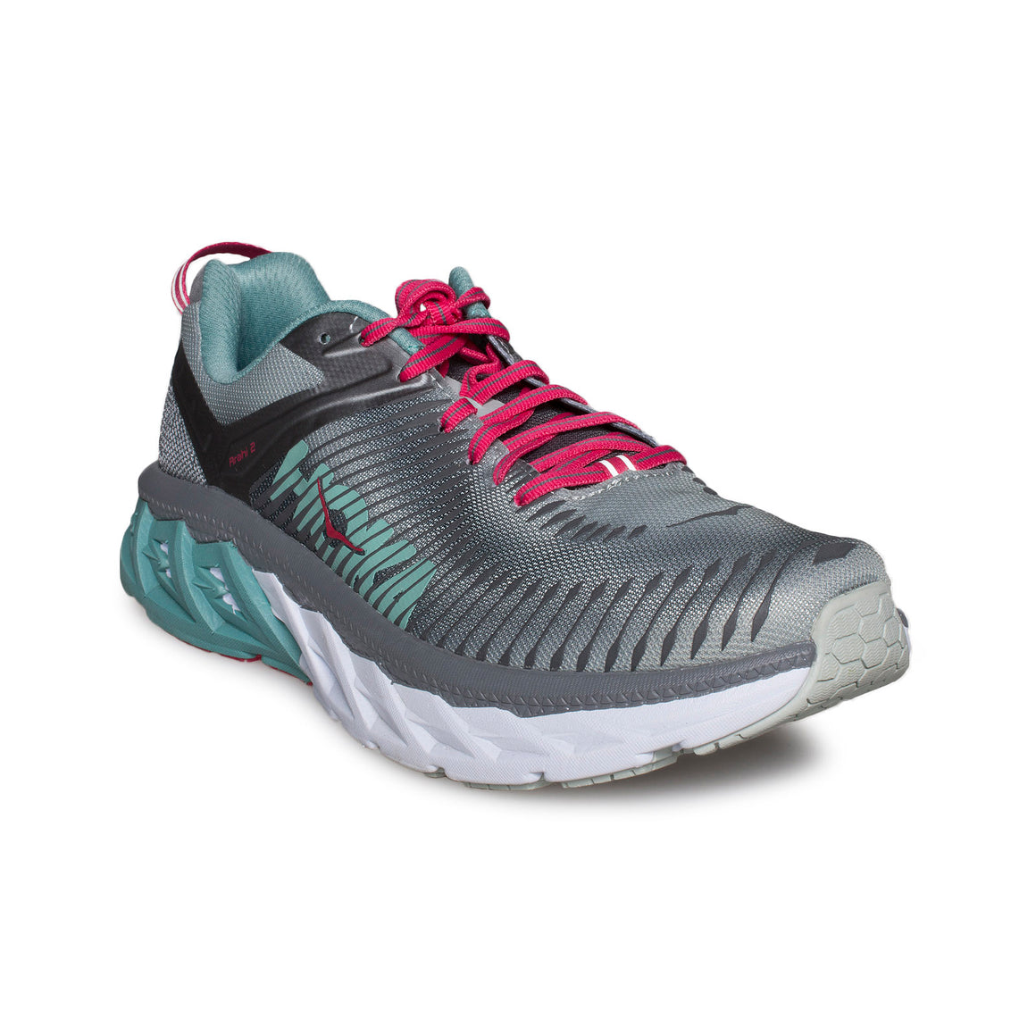 Hoka One One Arahi 2 Steel / Grey Metal Running Shoes - Women's