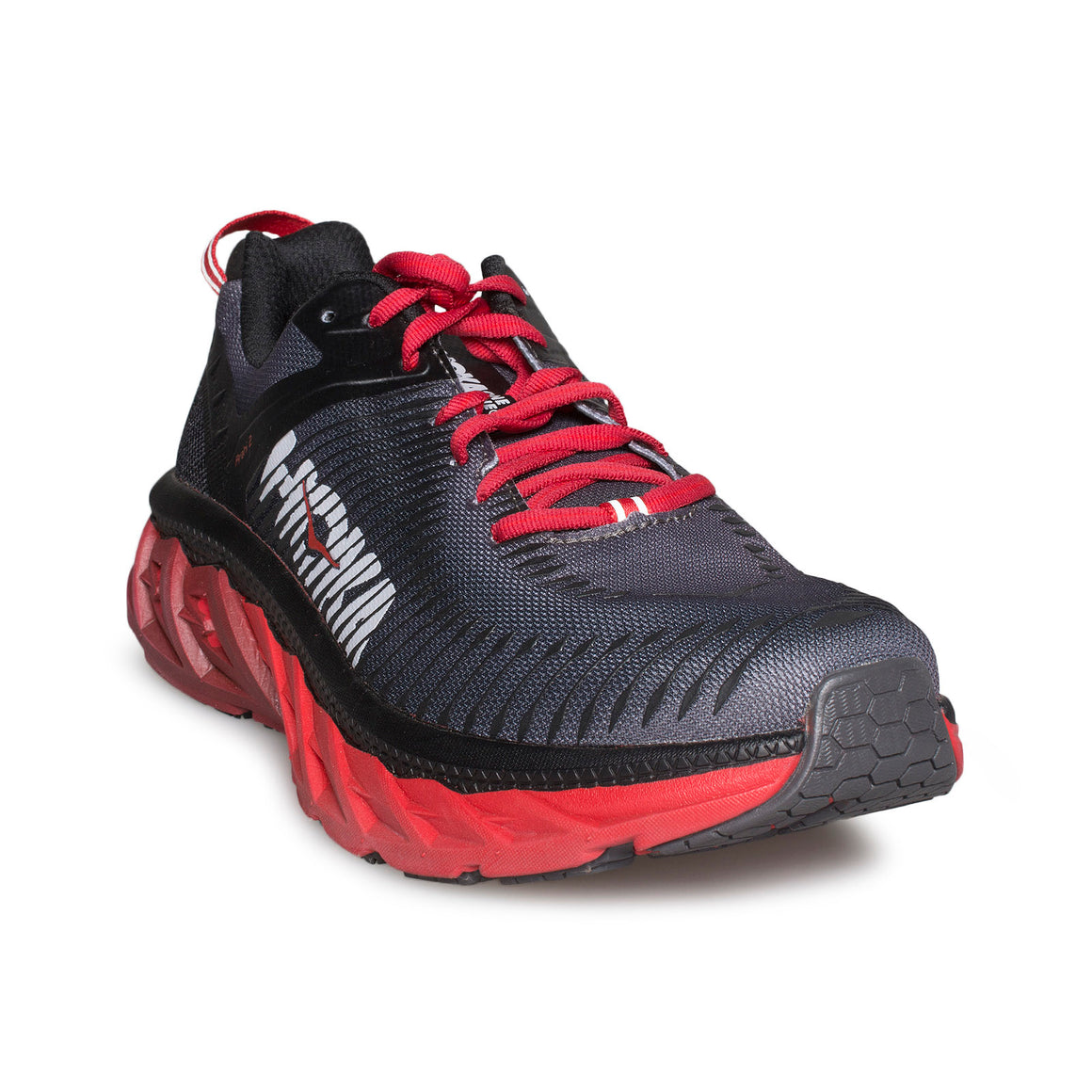 Hoka One One Arahi 2 Black / Risk Red Running Shoes - Men's
