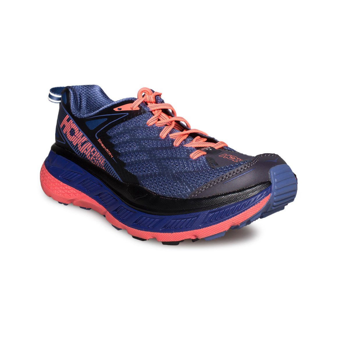 Hoka One One Stinson ATR 4 Marlin / Neon Coral Running Shoes - Women's