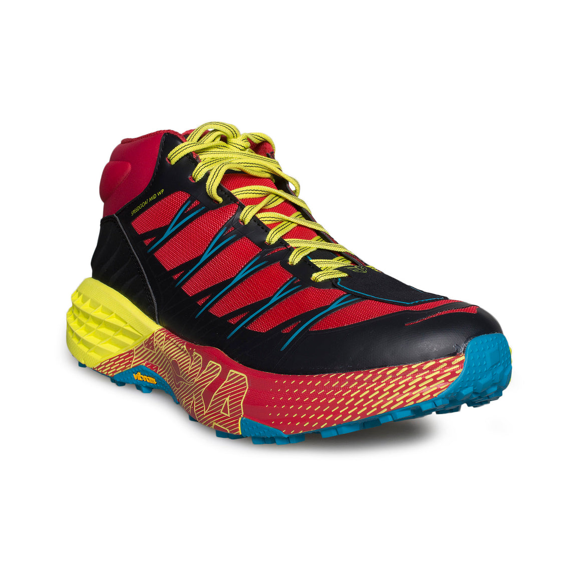 Hoka One One Speedgoat MID WP Chinese Red / Caribbean Sea Running Shoes - Men's