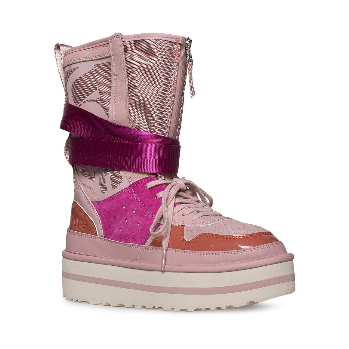 UGG Pop Punk High Top Pink Crystal Sneakers - Women's