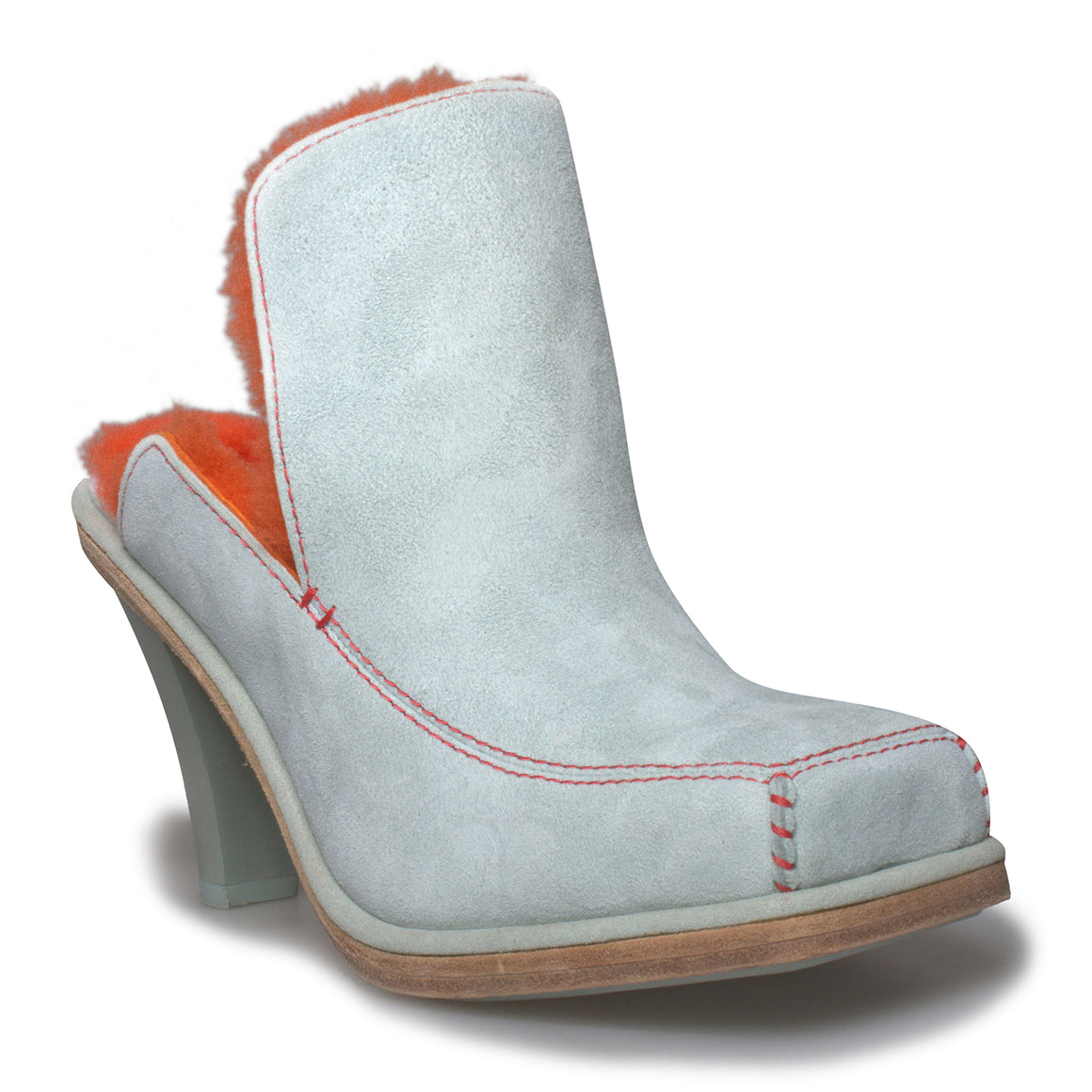 UGG Court Mule Eckhaus Latta Sky Grey / Mandarin Orange Heels - Women's