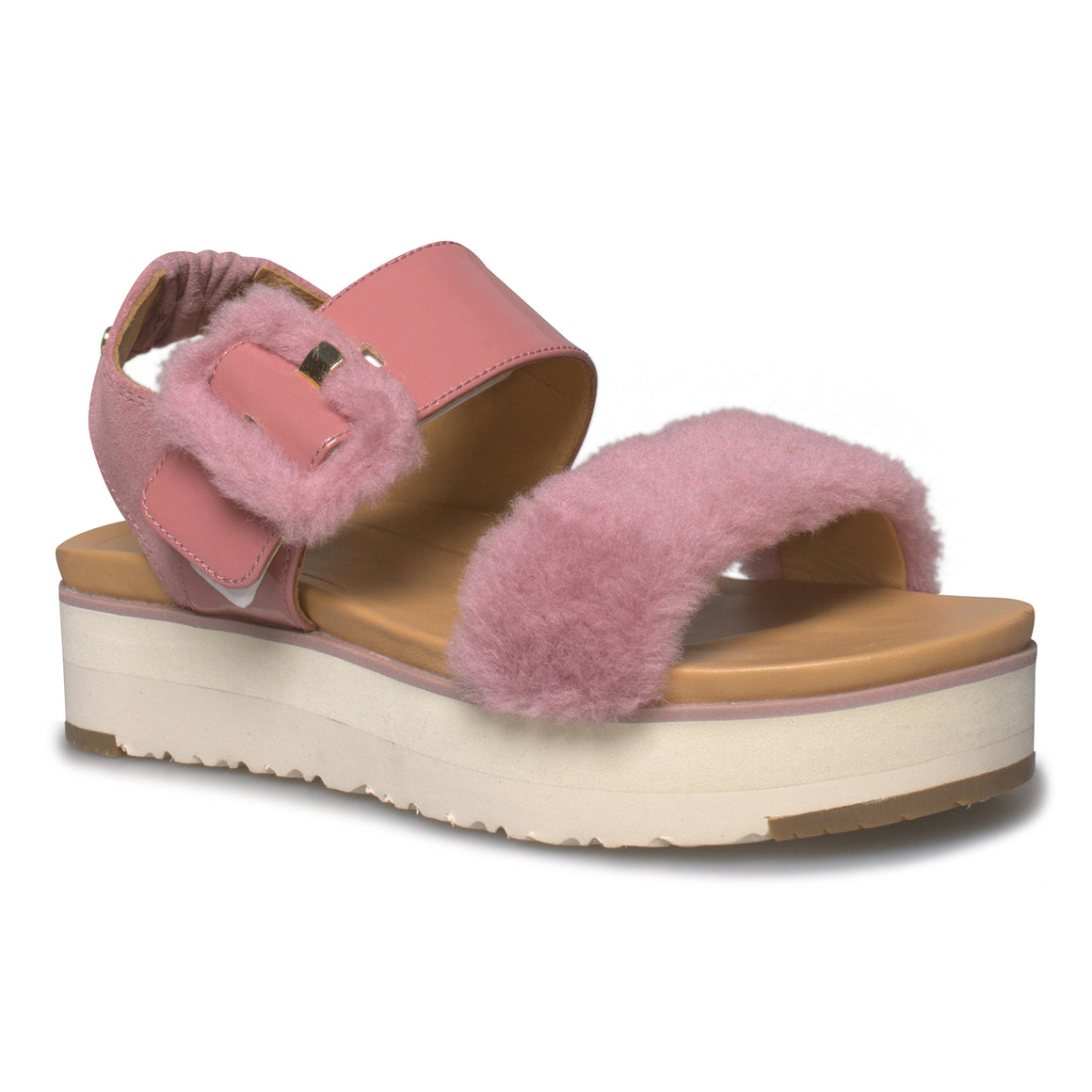 UGG Le Fluff Pink Dawn Sandals - Women's