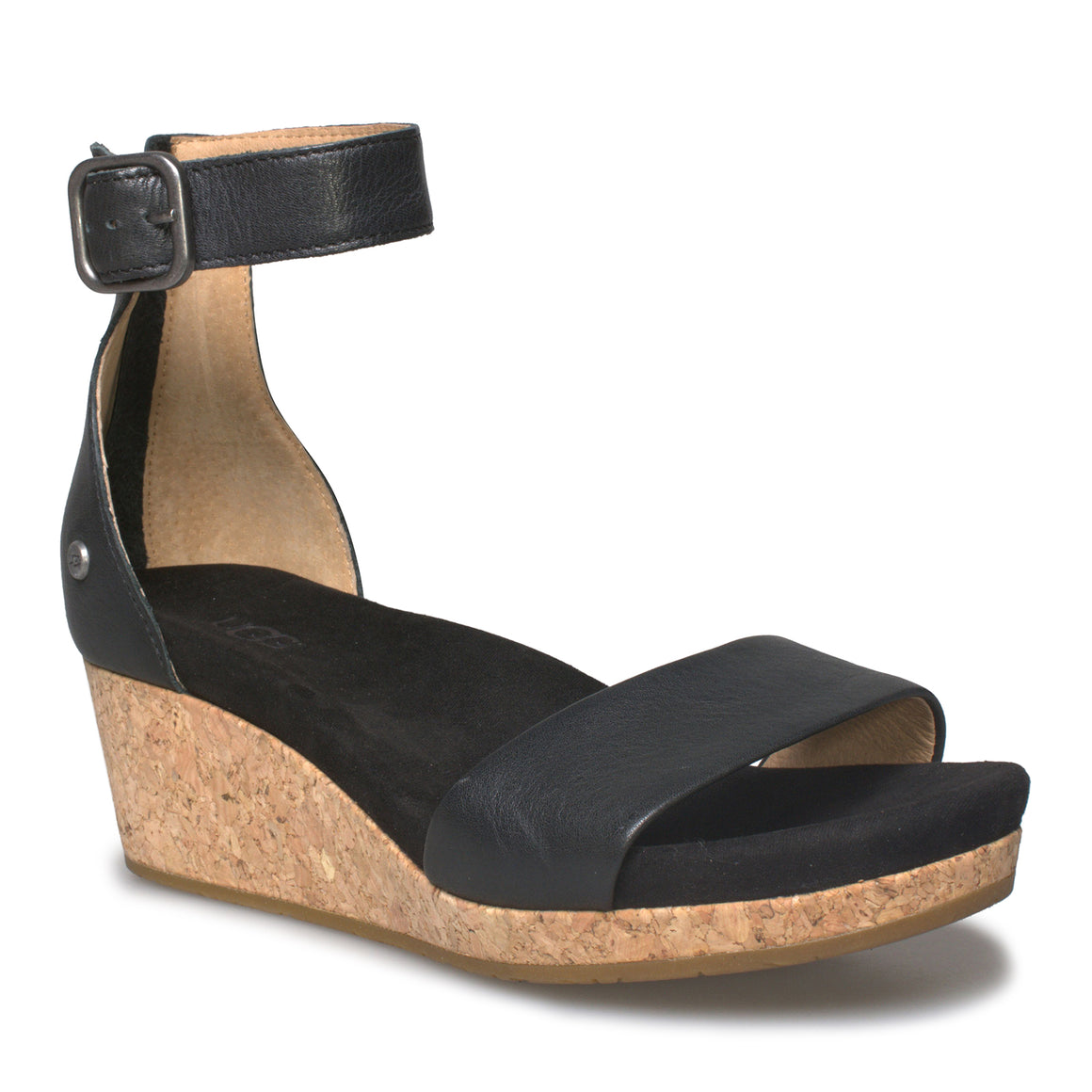 UGG Zoe II Black Sandals - Women's