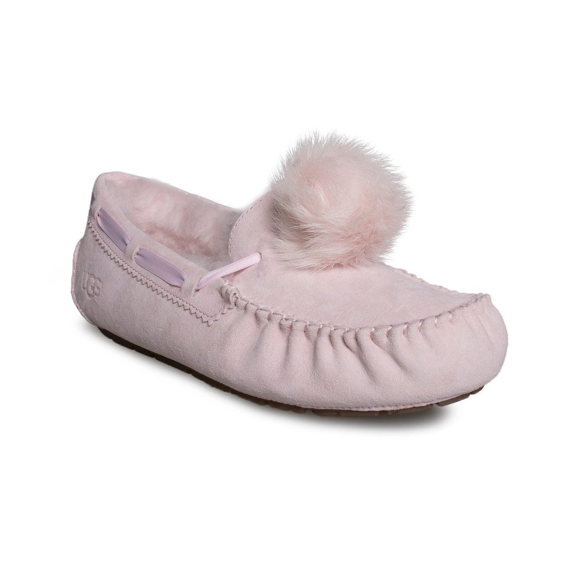 UGG Dakota Pom Pom Seashell Pink Slippers - Women's