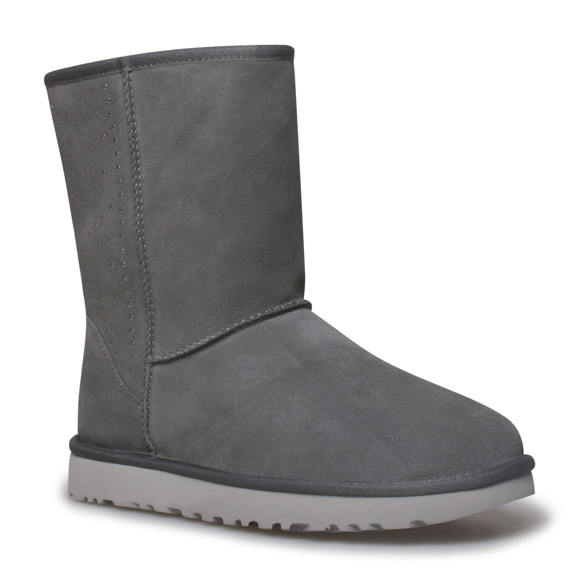 UGG Classic Short Studded Charcoal Boots - Women's