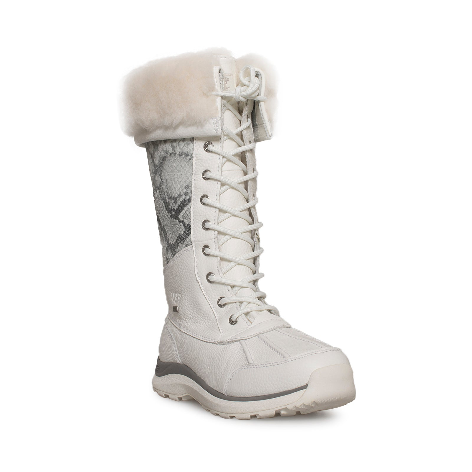 arriving boy the latest UGG Adirondack Tall III Snake White Boots