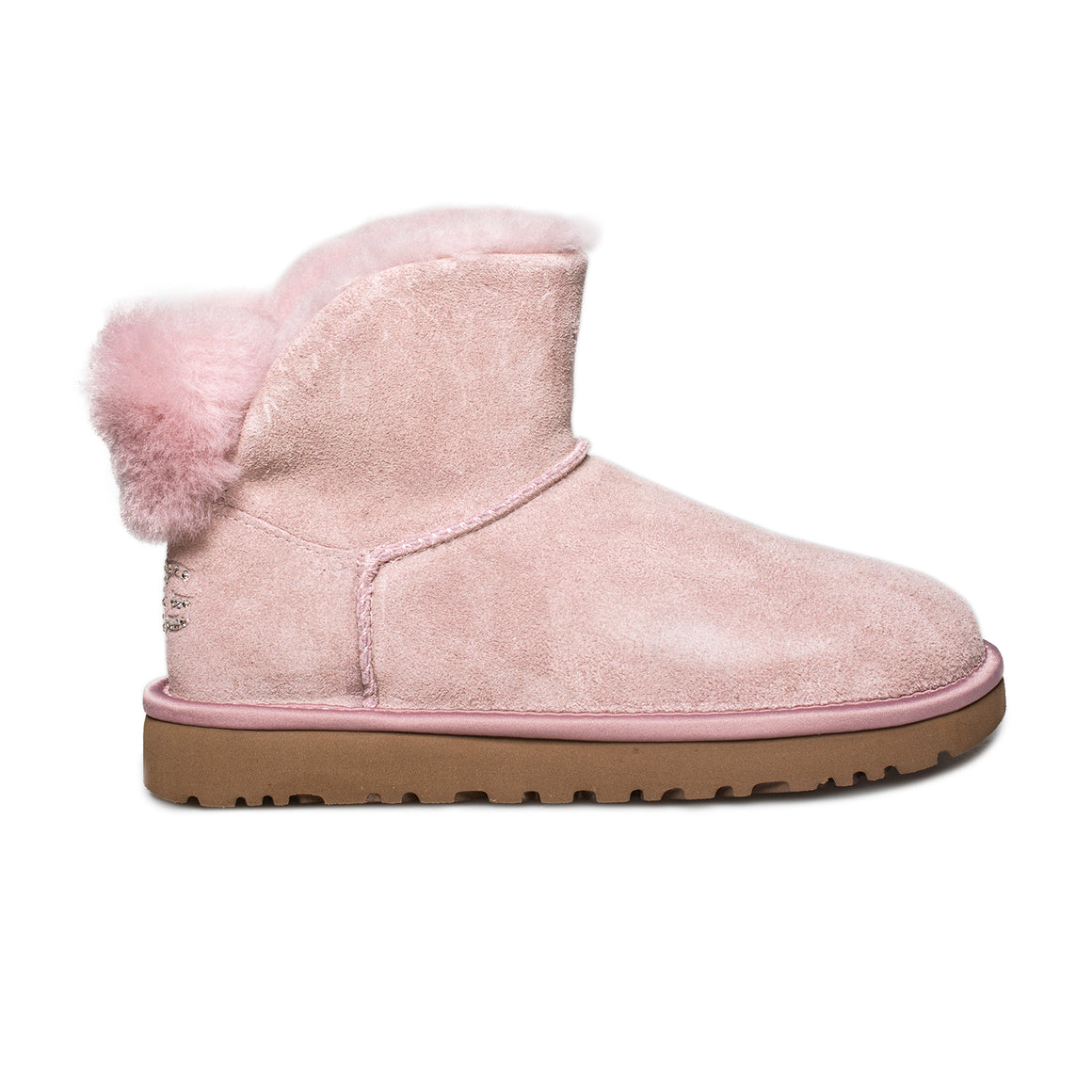 UGG Classic Bling Mini Pink Crystal Boots - Women's