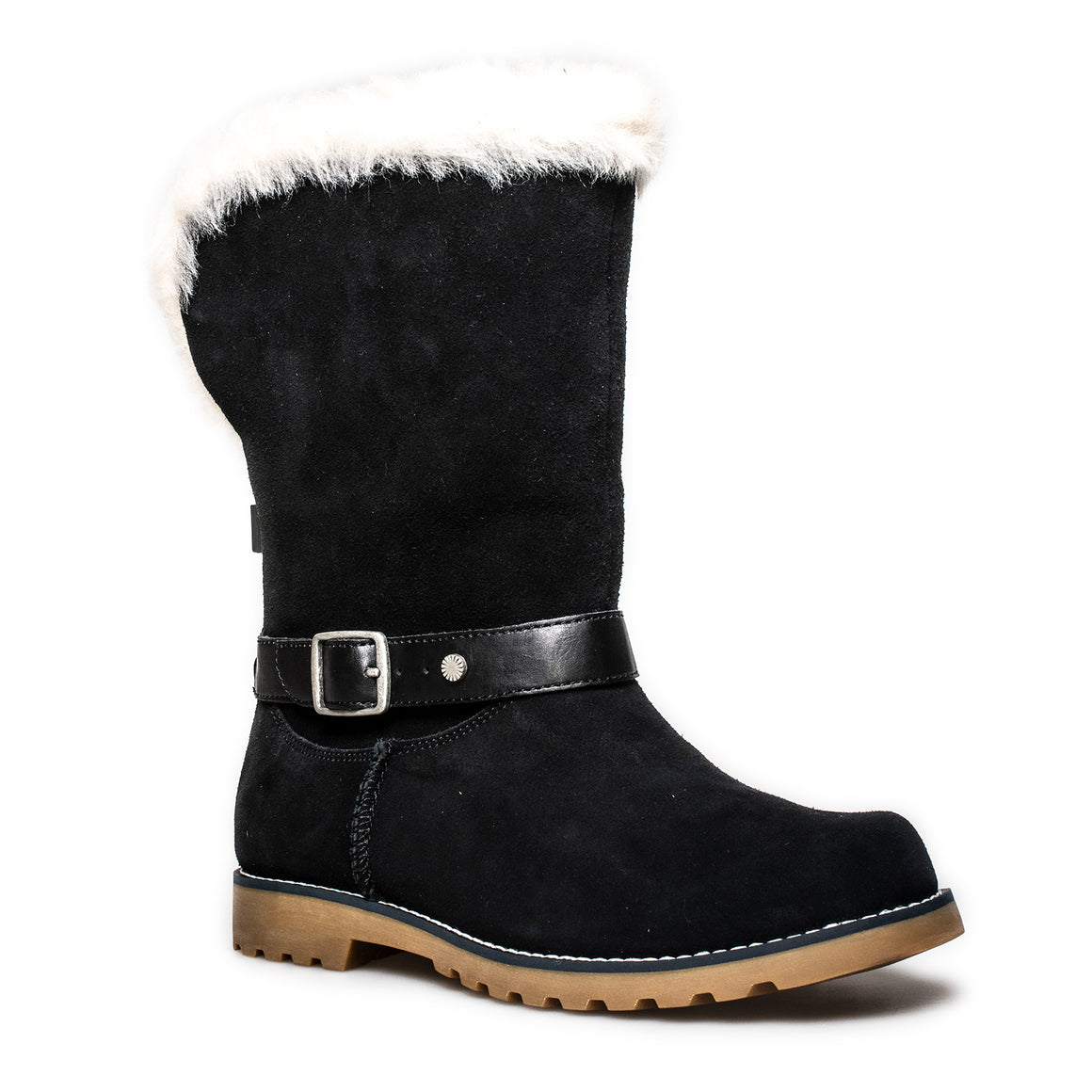 UGG Nessa Black Boots - Youth