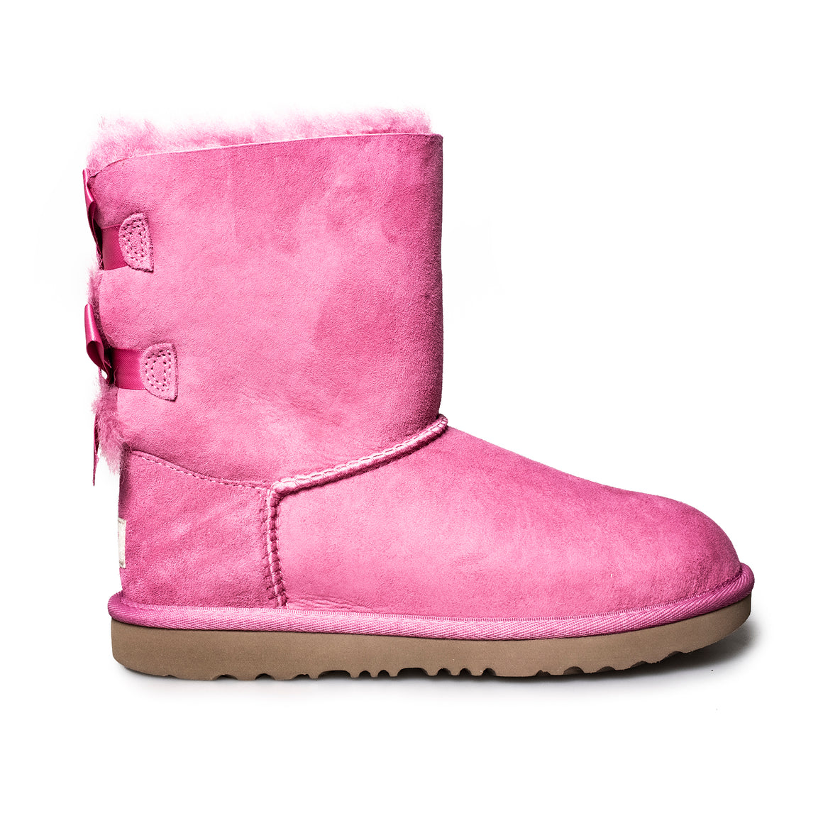 UGG Bailey Bow II Pink Azalea Boots - Youth