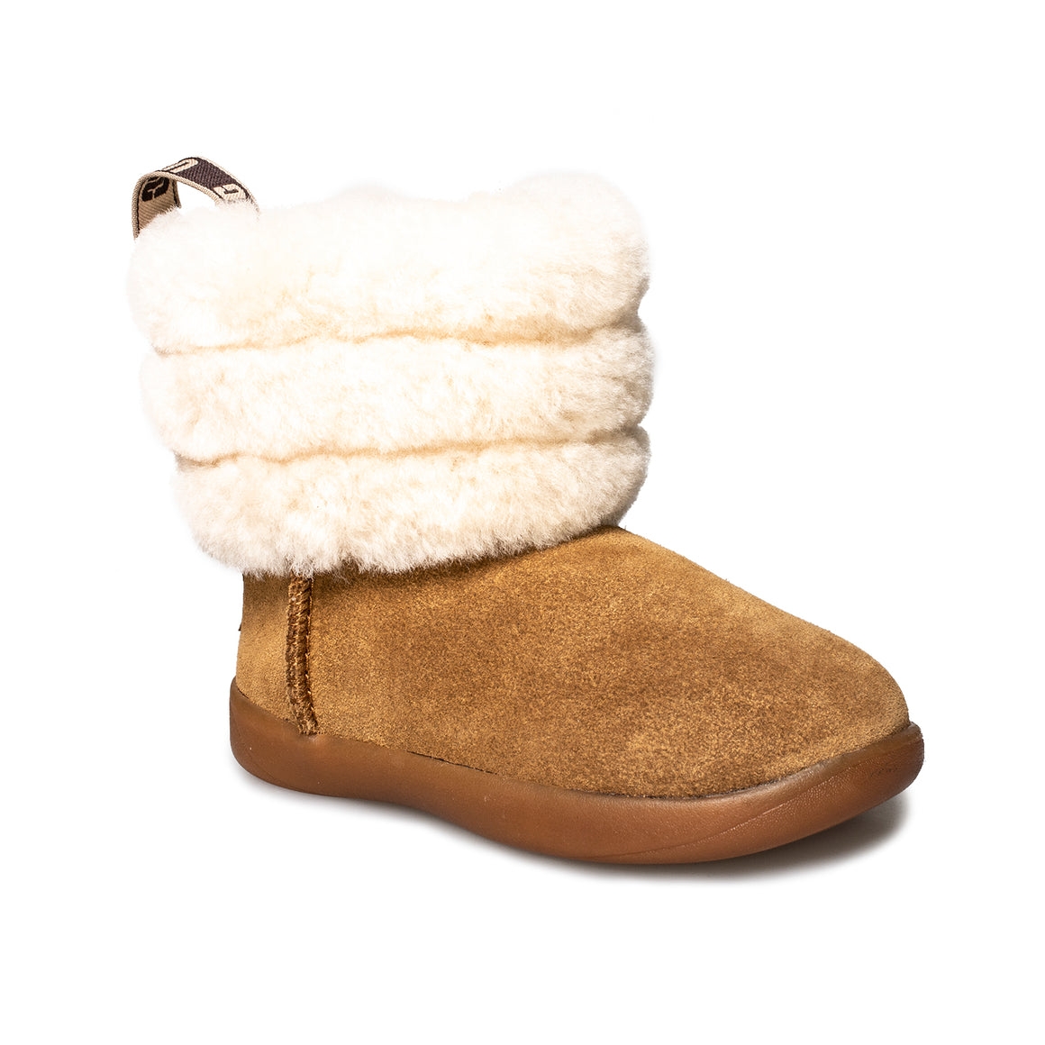 UGG Mini Quilted Fluff Chestnut Boot's - Toddler's