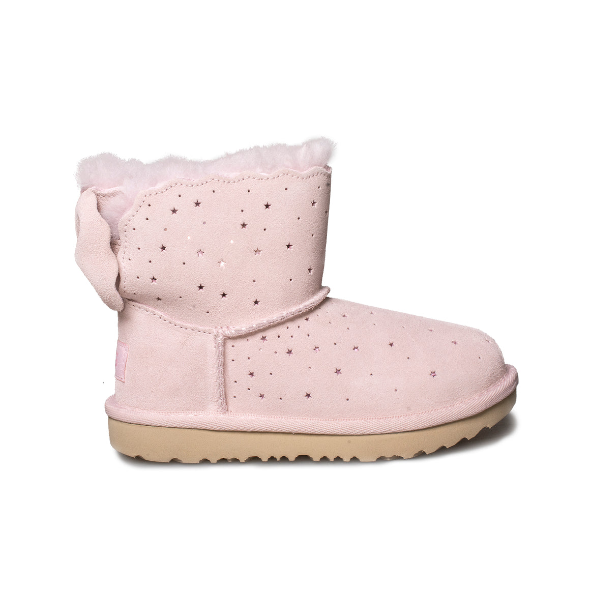 UGG Mini Bailey Bow II Starry Lite Seashell Pink Boot's - Toddler's