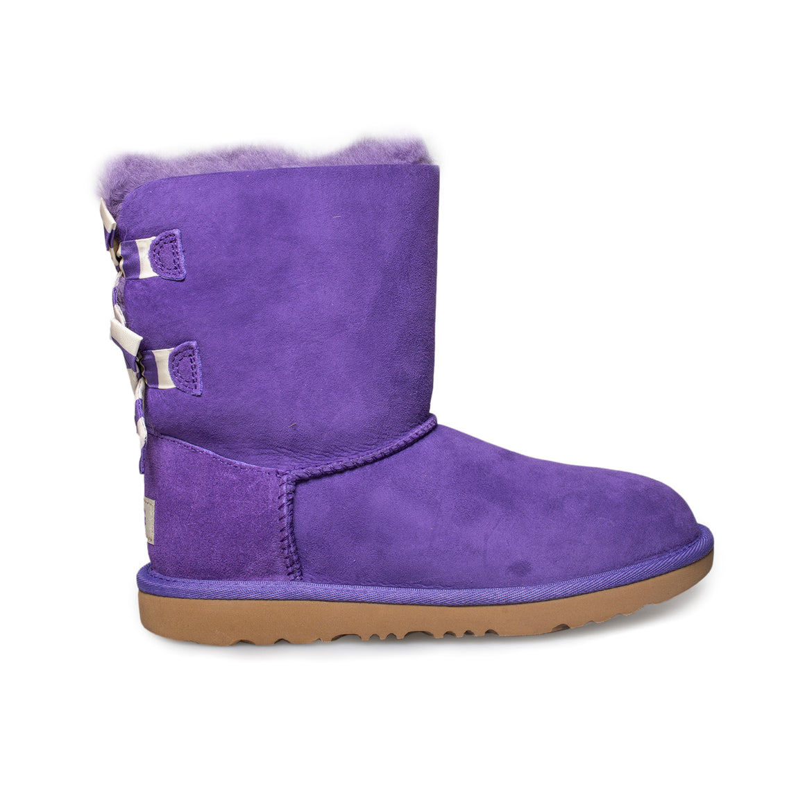 UGG Bailey Bow II Striped Violet Bloom Boots - Kid's