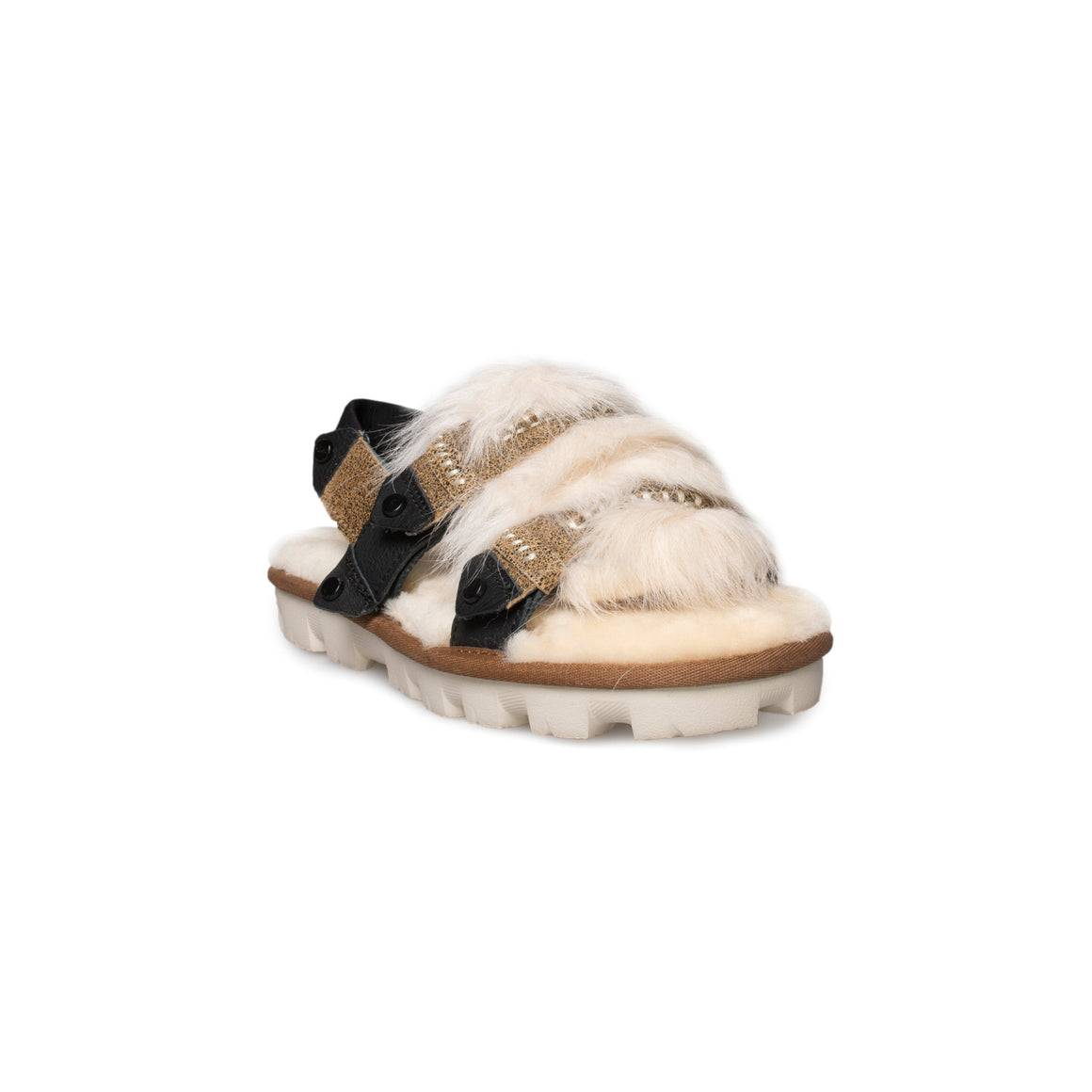 UGG Fluff Punk Slingback Chestnut Sandals - Women's