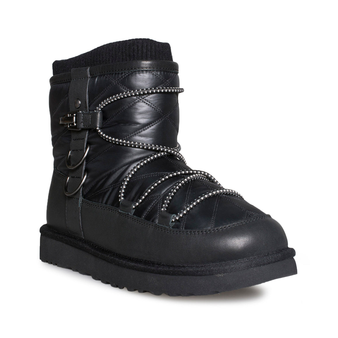 UGG Lakes & Lights Classic Short Black Boots - Women's