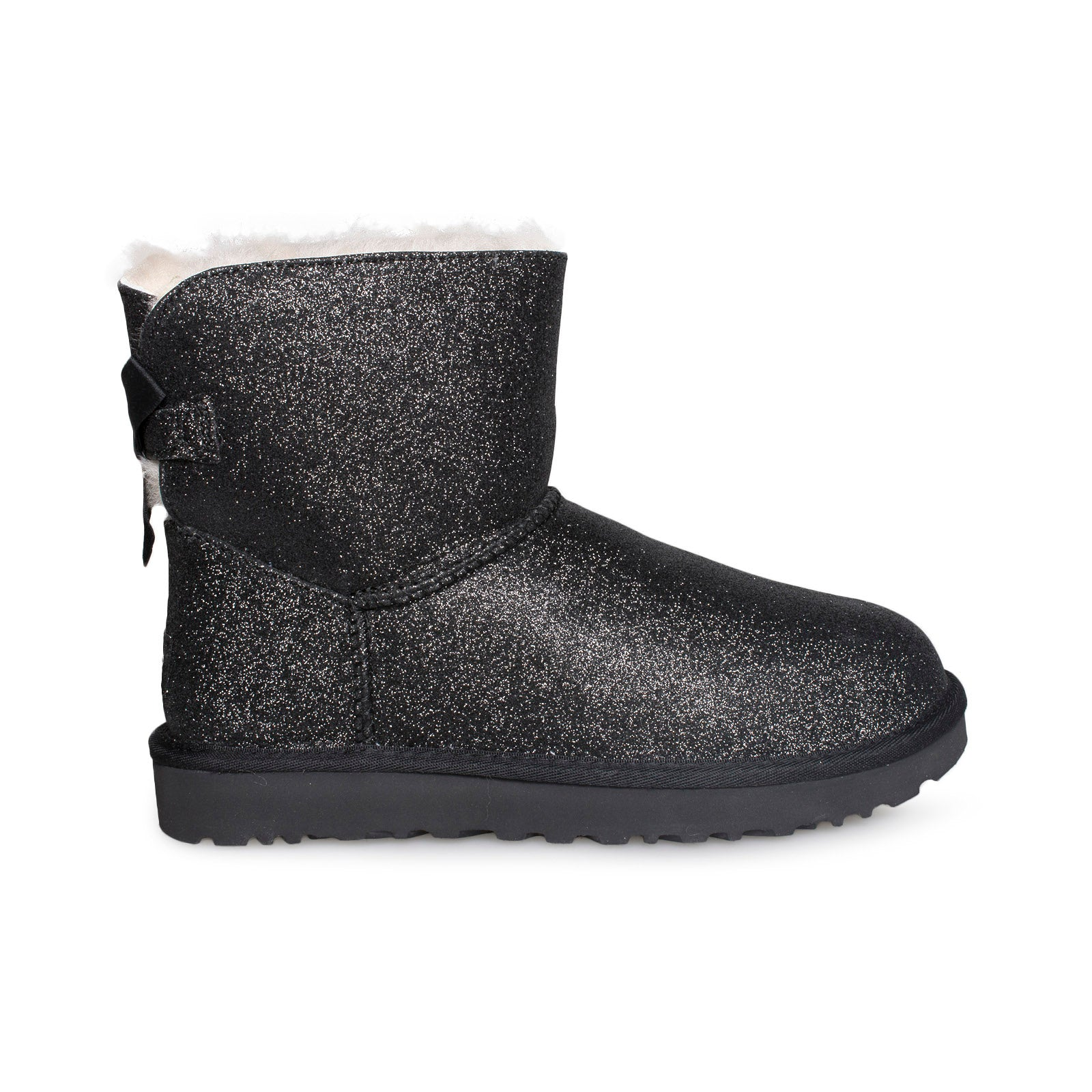 eb20e32c9bb UGG Mini Bailey Bow Sparkle Black Boots - Women's