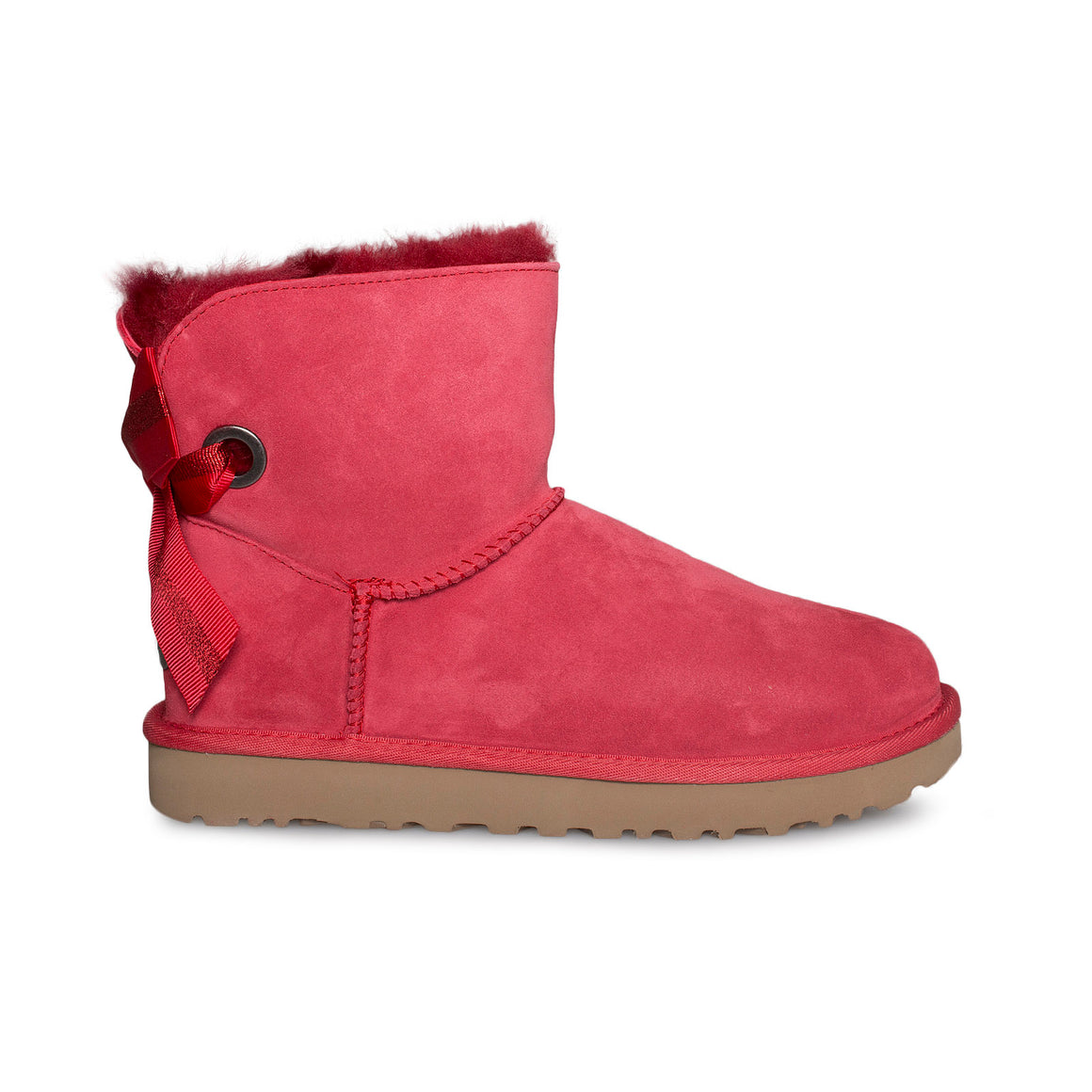 UGG Customizable Bailey Bow Mini Ribbon Red Boots - Women's