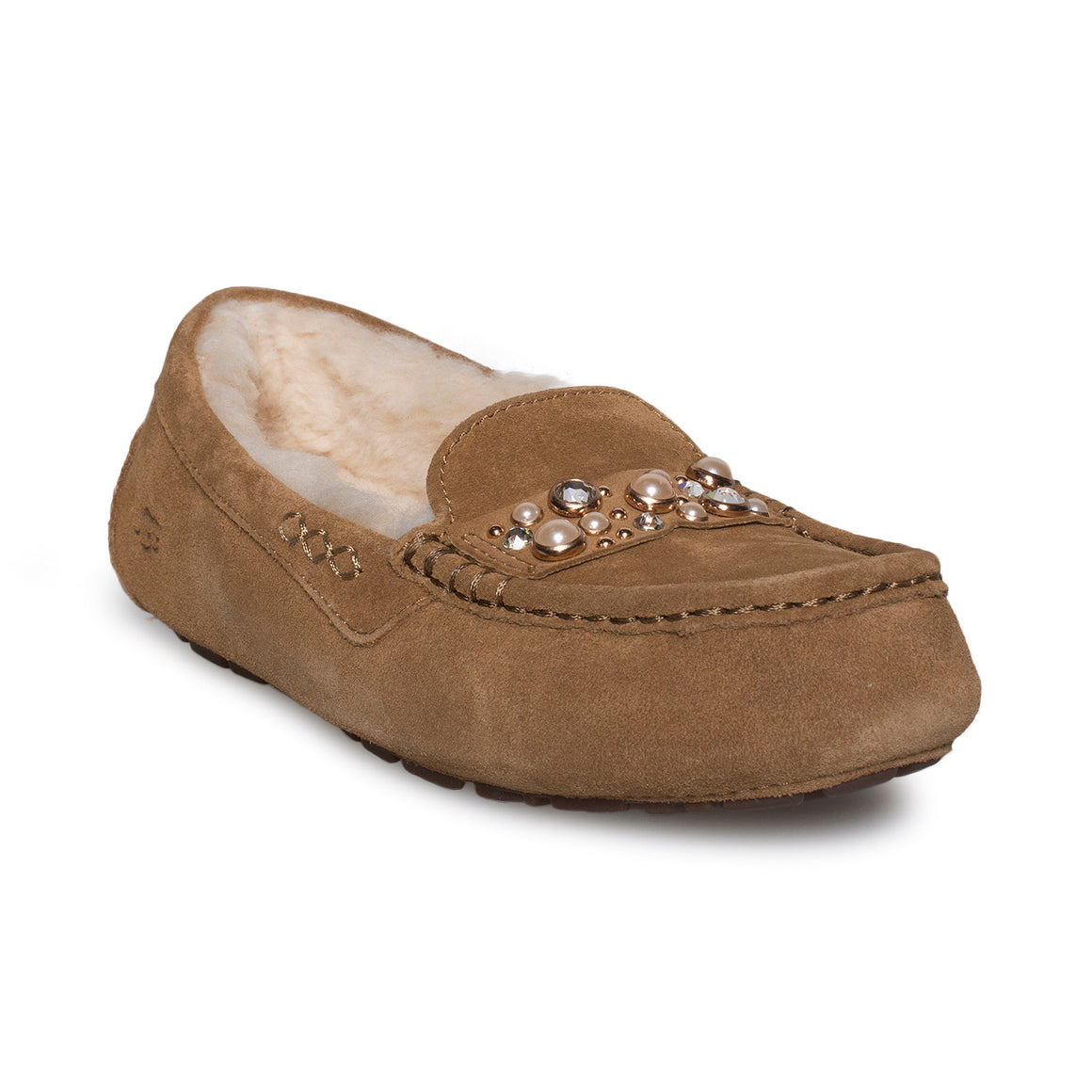 UGG Ansley Bow Brilliant Chestnut Slippers