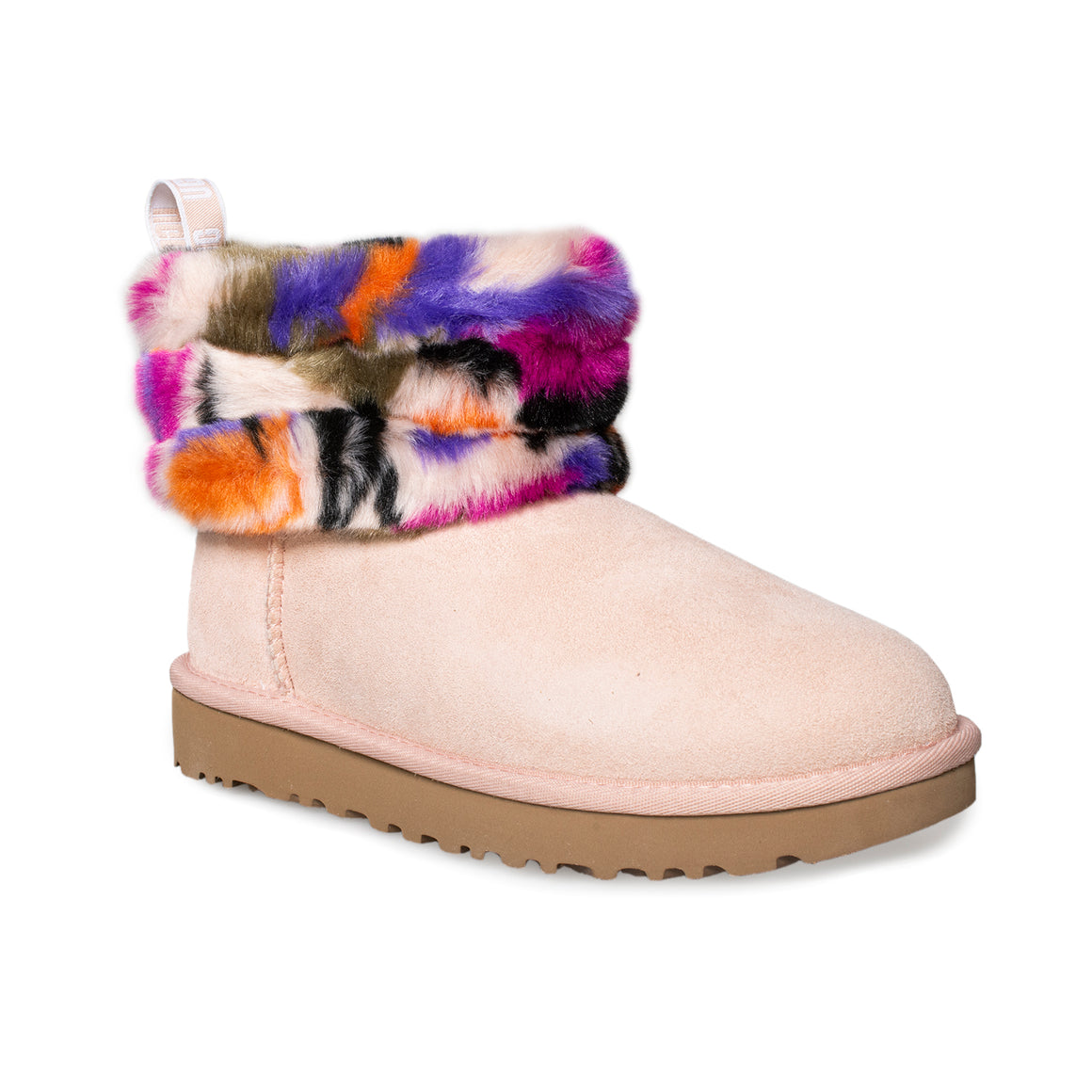 UGG Fluff Mini Quilted Motlee Multi Colored Boot's - Women's