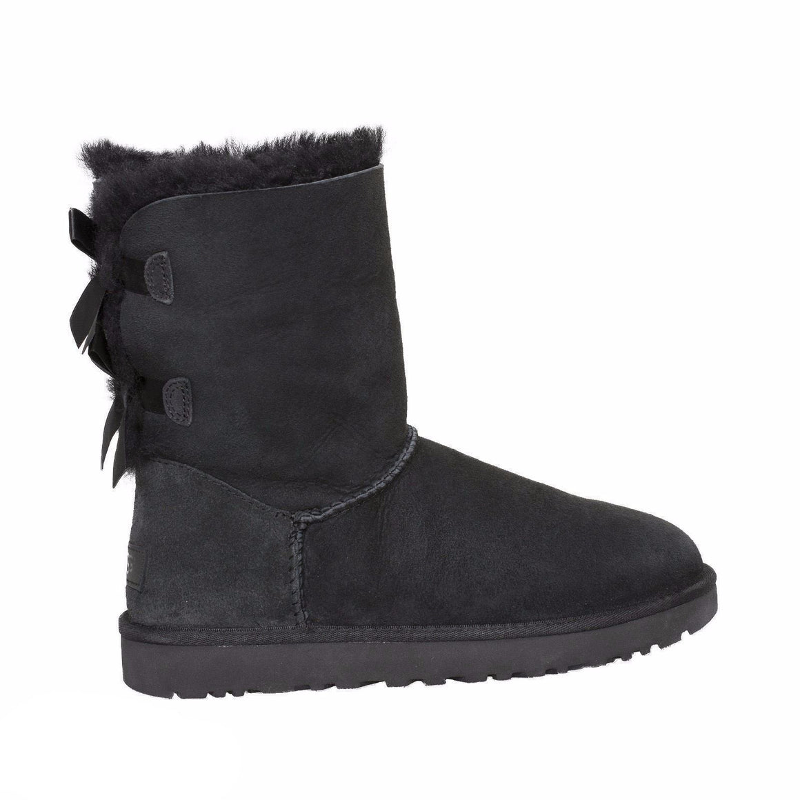 UGG Bailey Bow II Black Boots - Youth