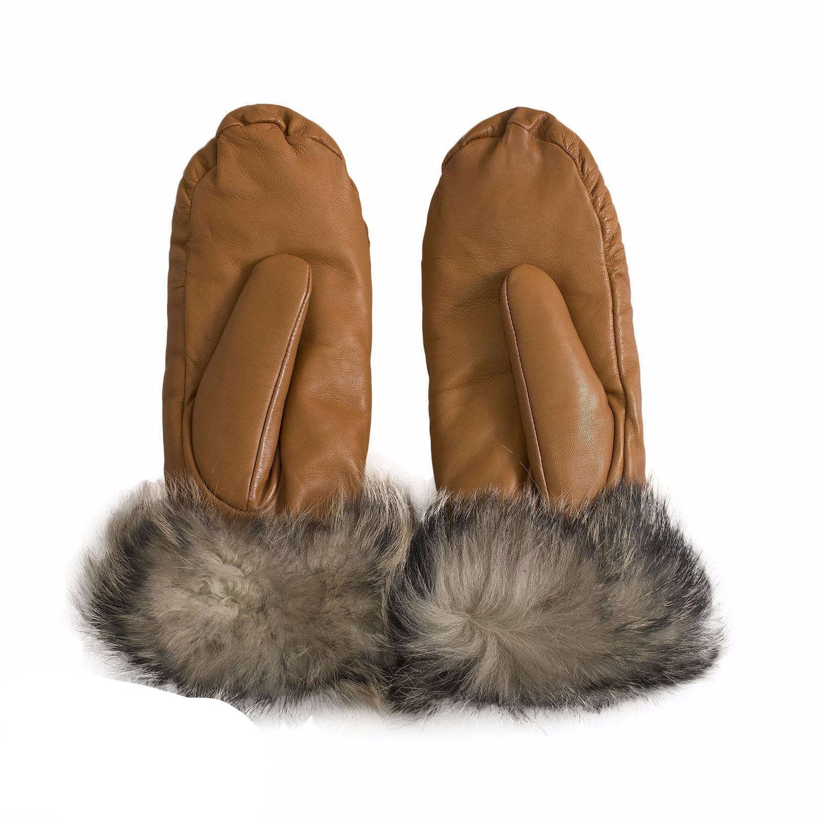 UGG Leather Mittens Chestnut