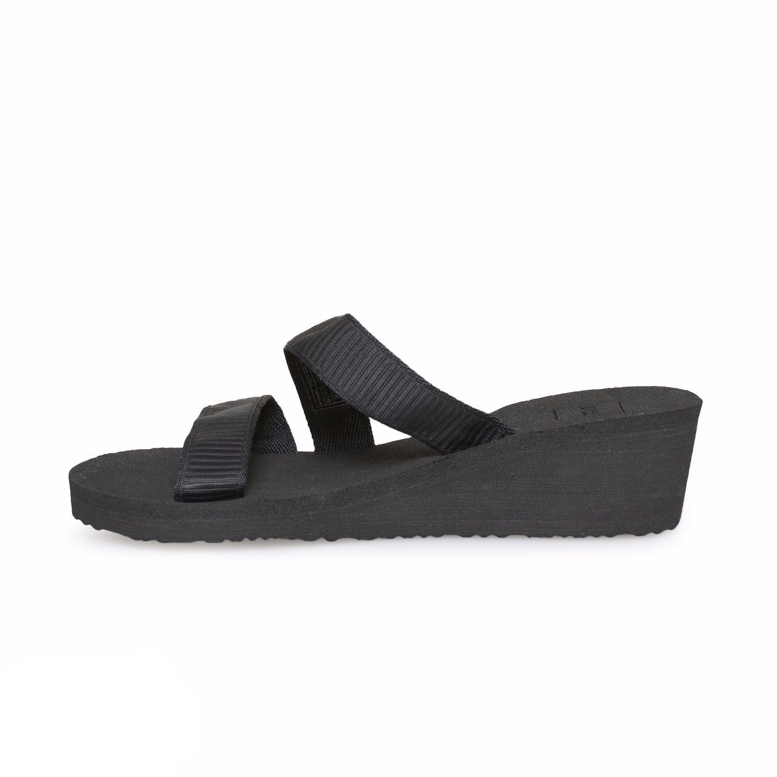 4f88747f7e7c Teva Mush Mandalyn Wedge Loma Livy Black Sandals - MyCozyBoots