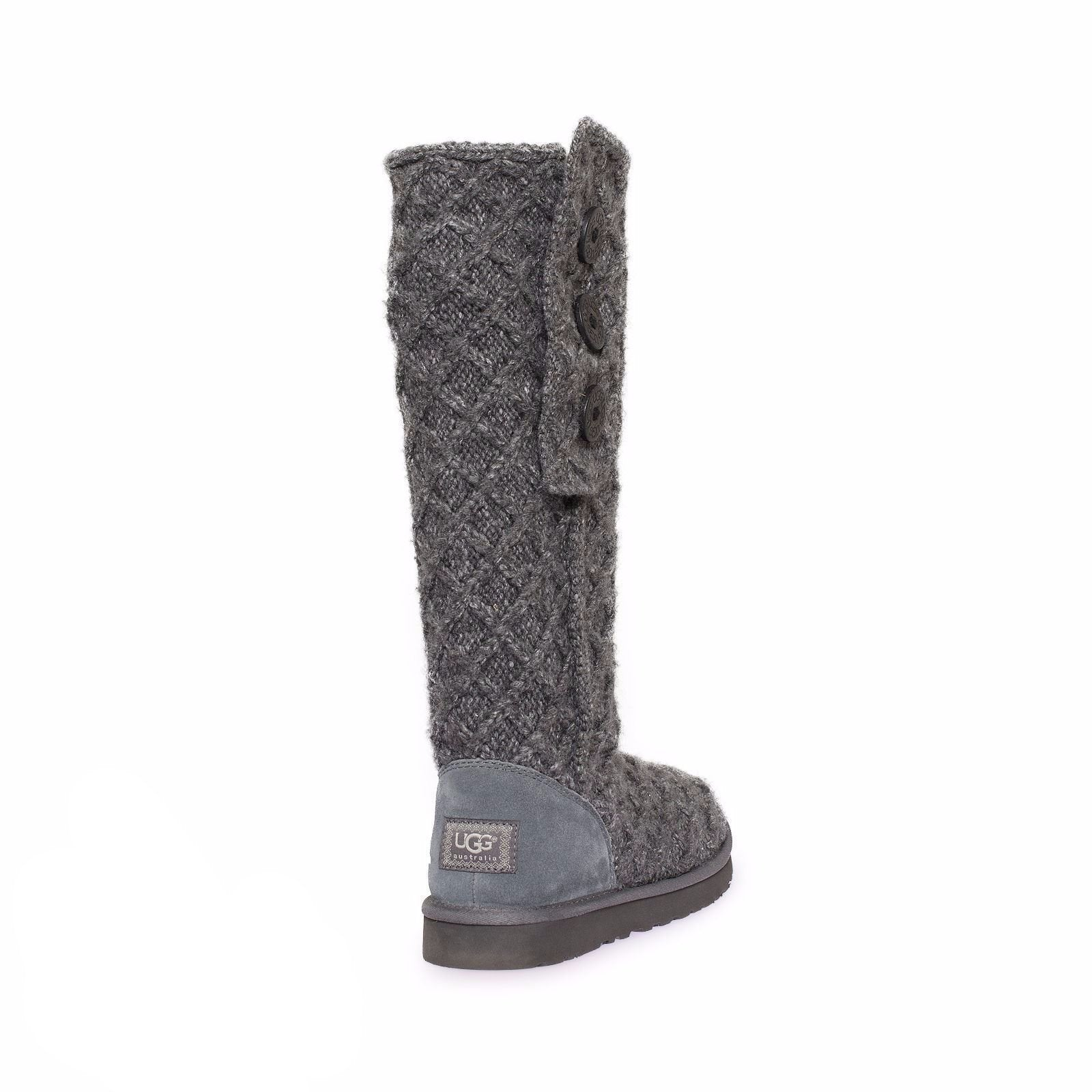 27db634845a UGG Lattice Cardy Charcoal Boots
