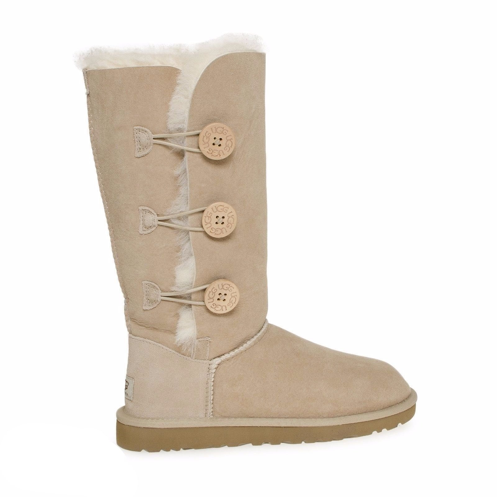 ugg bailey button triplet sand boots mycozyboots rh mcozyboots com