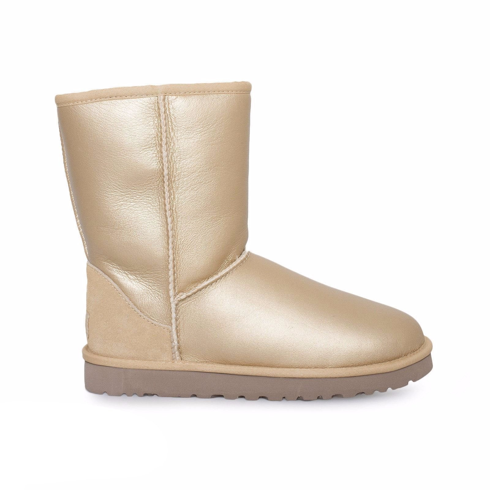 UGG Classic Short Metallic Gold Boots
