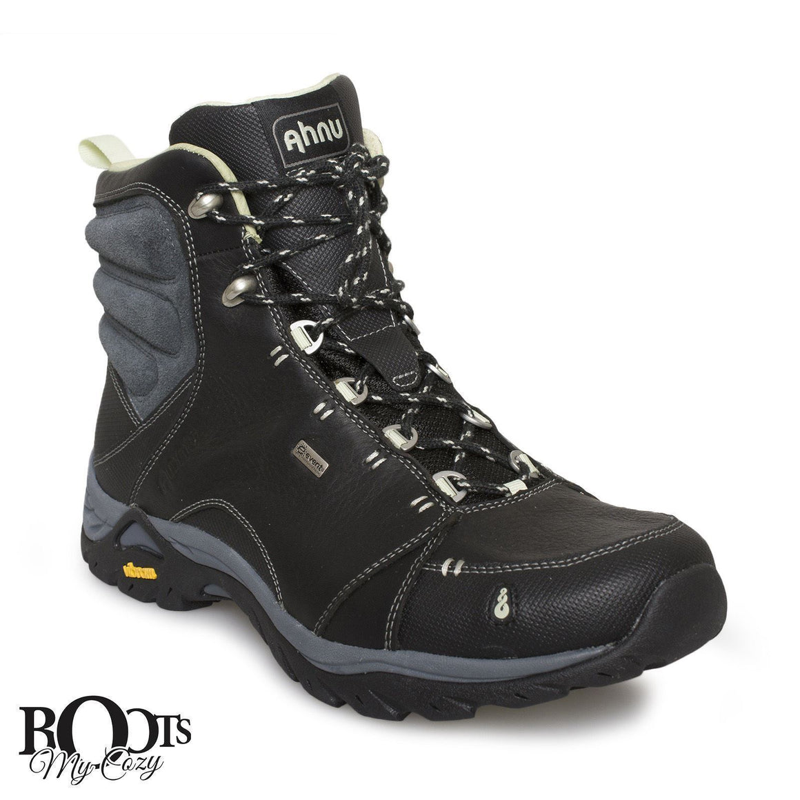 AHNU MONTARA BLACK WP HIKING BOOTS