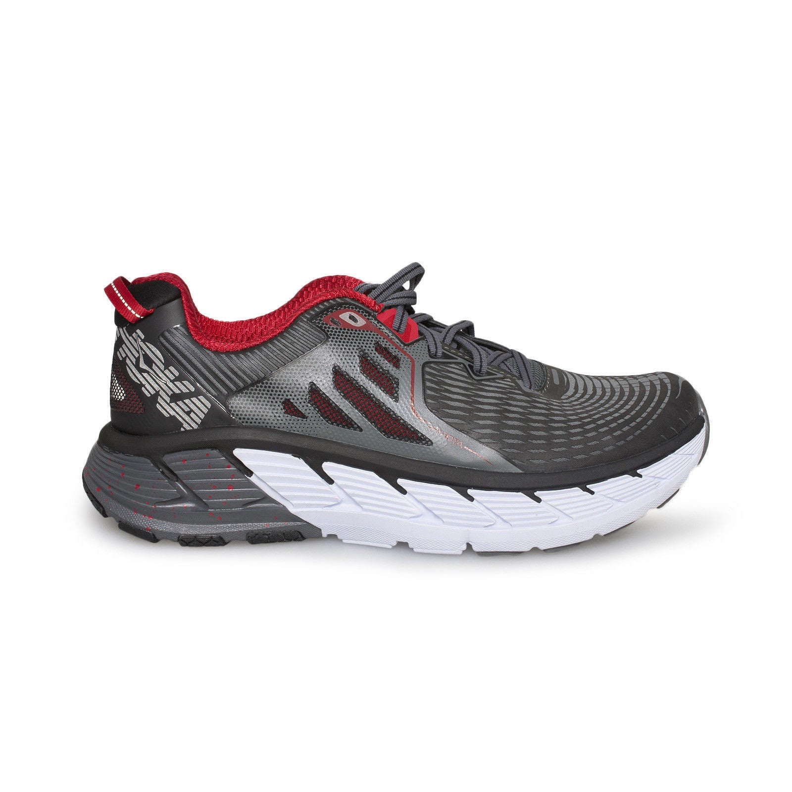NEW WIDE 2E Men/'s HOKA ONE ONE Gaviota Black//Formula One Running Shoes Gray Red