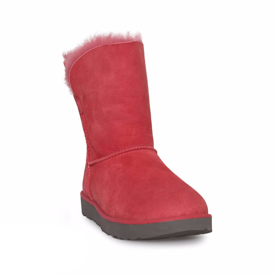 UGG Classic Cuff Short Lipstick Red Boots