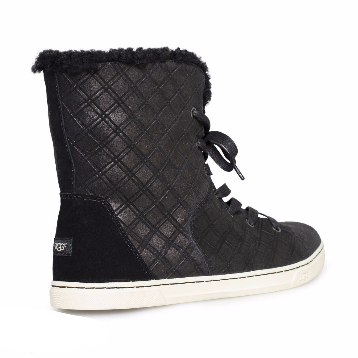 UGG Croft Double Diamond Black Shoes