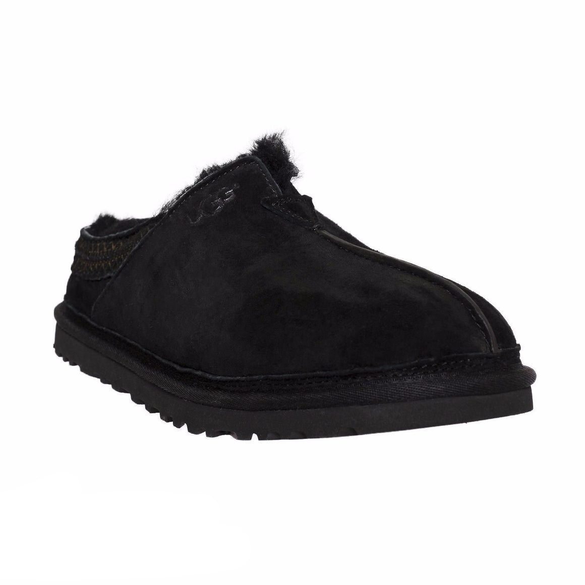 UGG Neuman Black Slippers