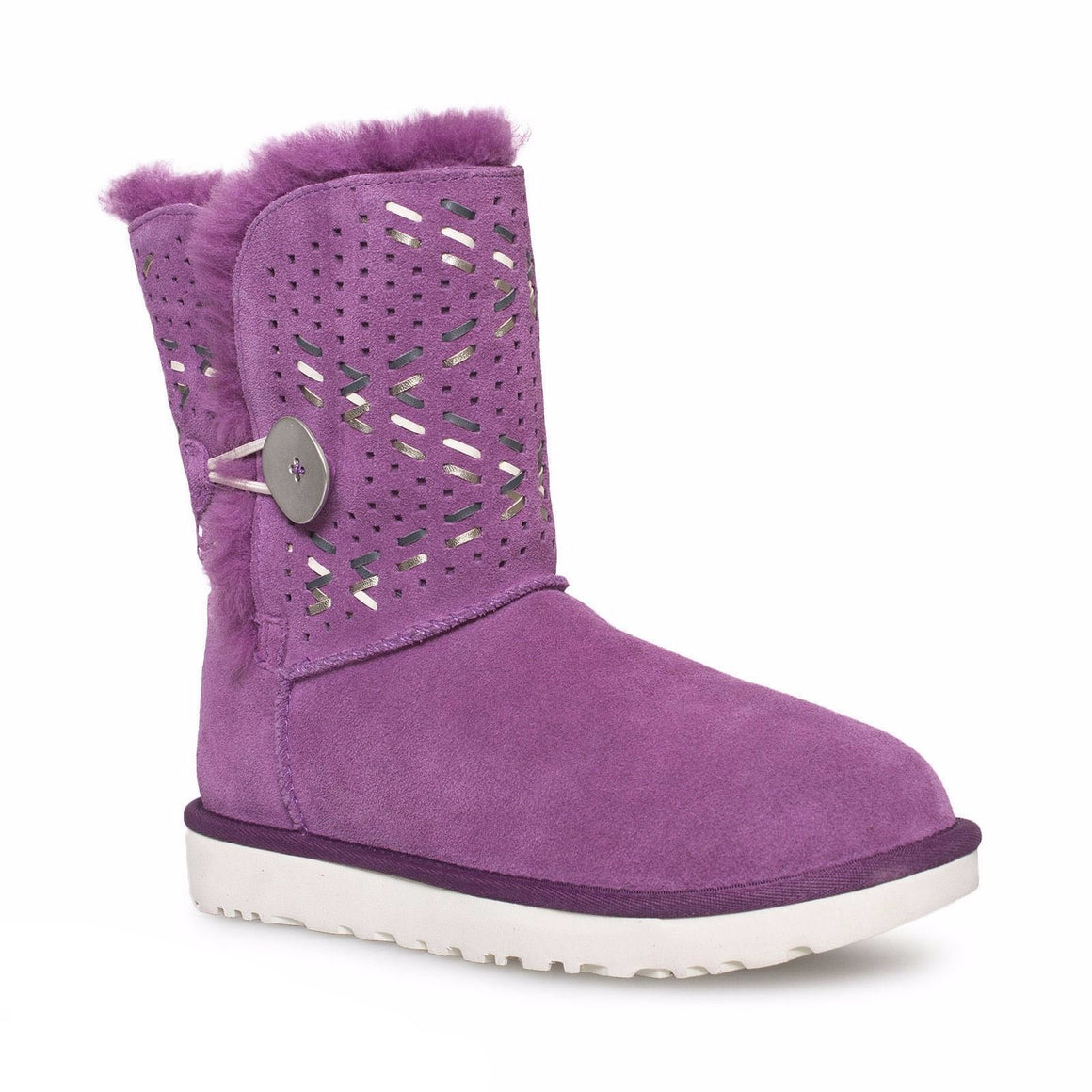 UGG Bailey Button Tehuano Purple Passion Boots