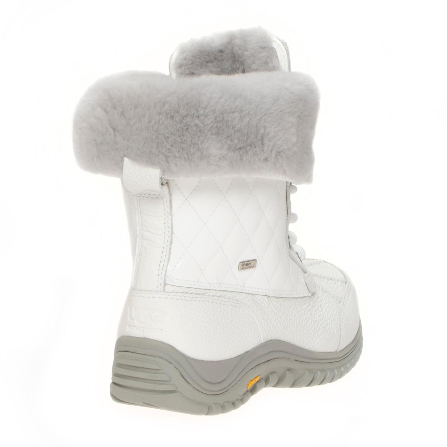 UGG Adirondack Quilted White Boots