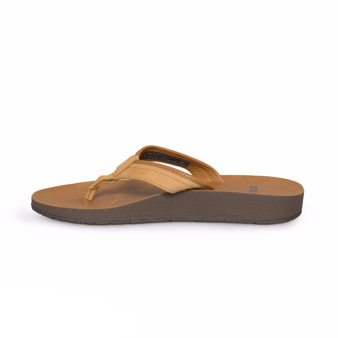 Teva Azure Flip Leather Tan Flip Flops