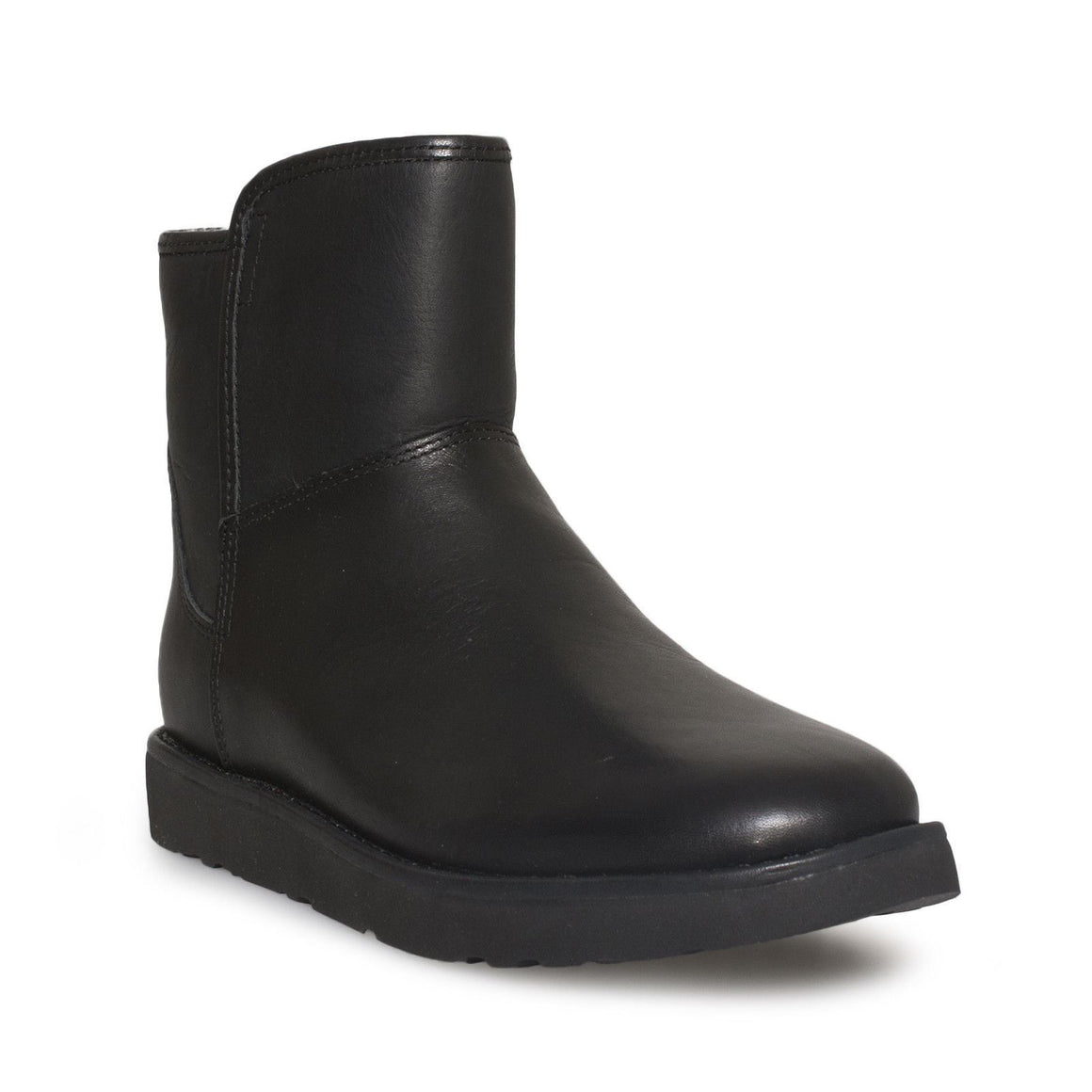UGG Abree Mini Leather Nero Boots