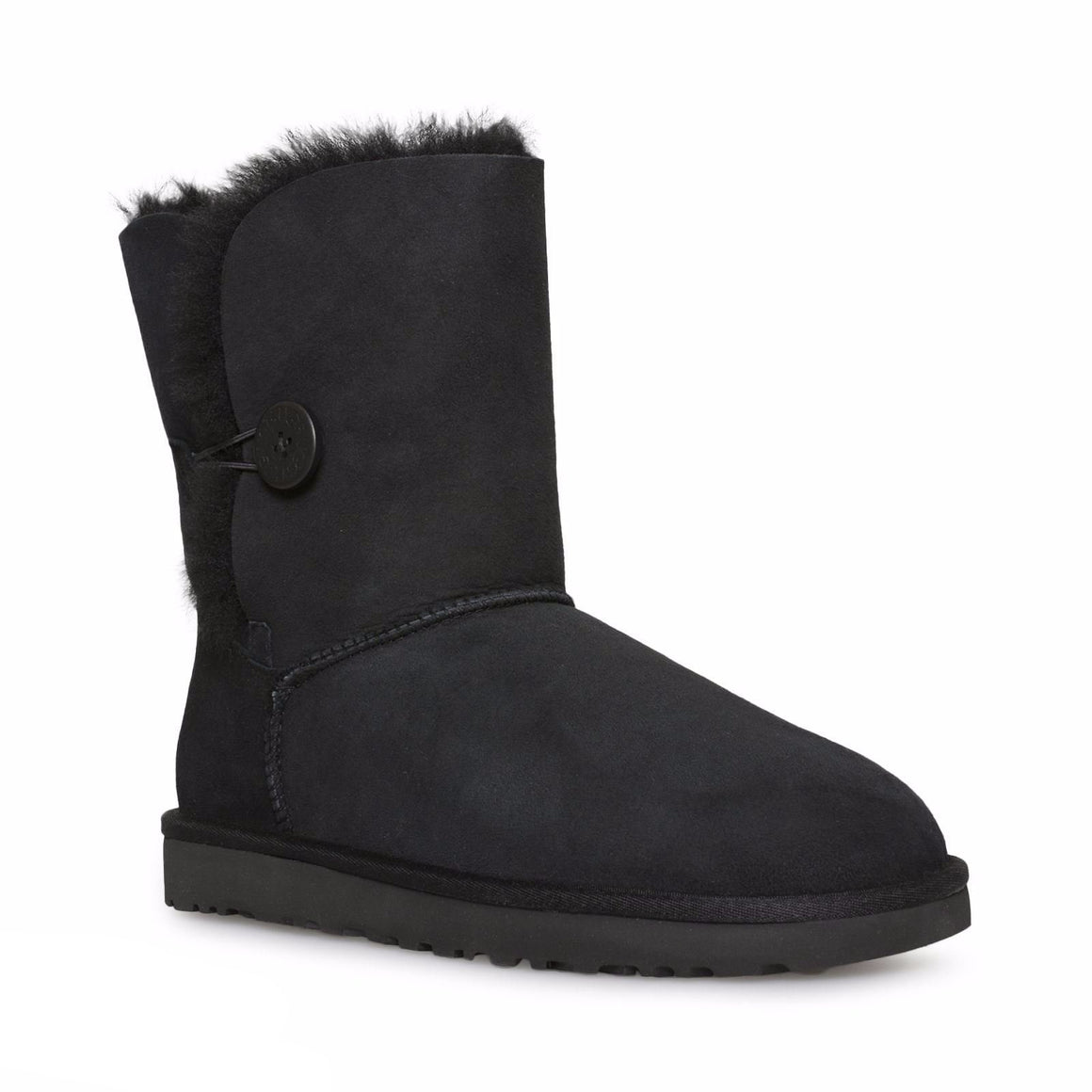 UGG Bailey Button II Black Boots - Youth