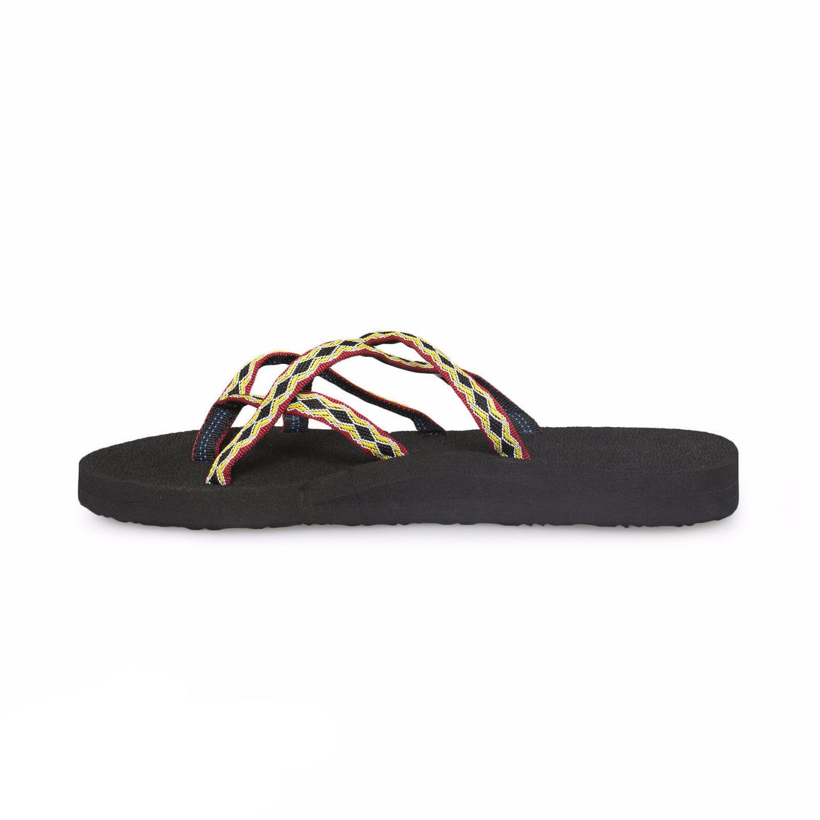 Teva Olowahu Black / Red / Yellow Flip Flops