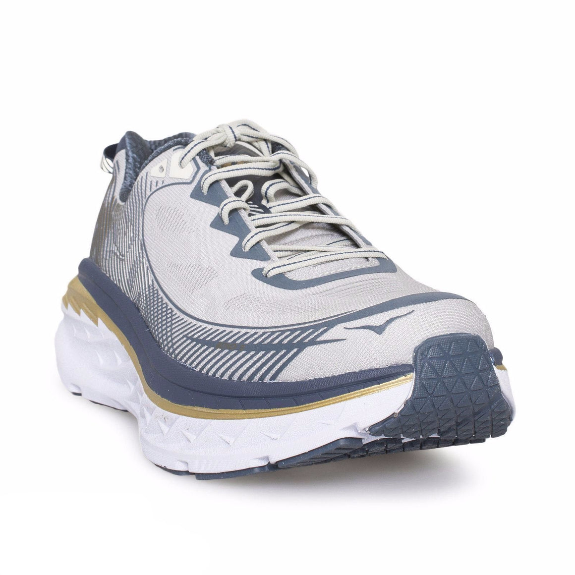 Hoka One One Bondi 5 Cool Gray / Midnight Navy Shoes - Men`s