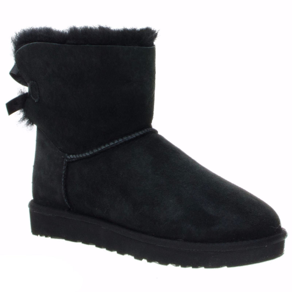 UGG Mini Bailey Bow Black Boots - Toddler