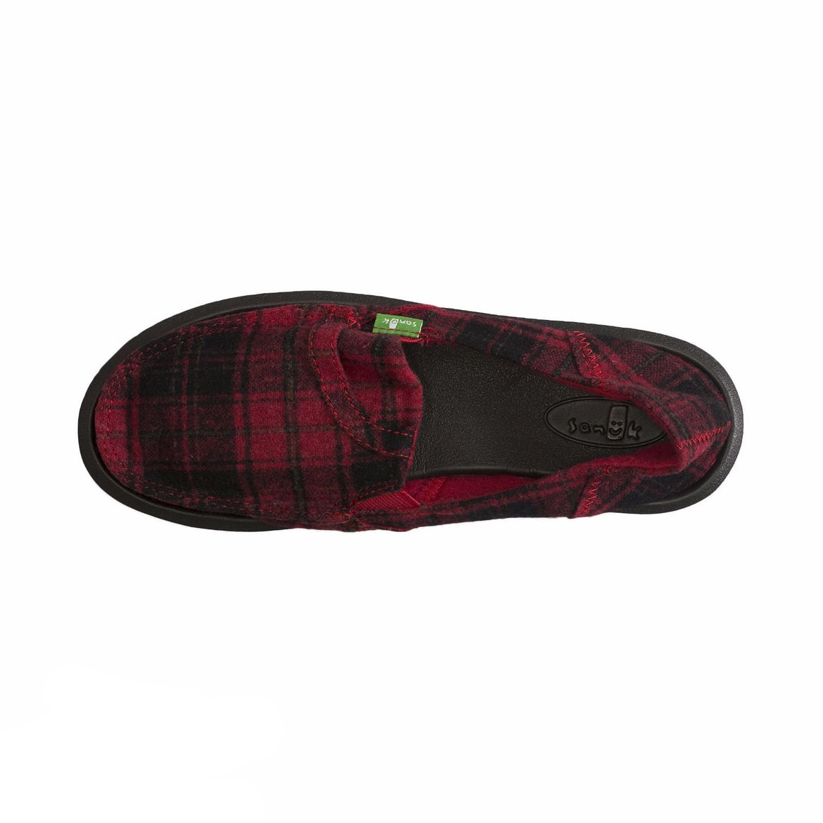 Sanuk Pick Pocket Plaid Red Vest Shoes