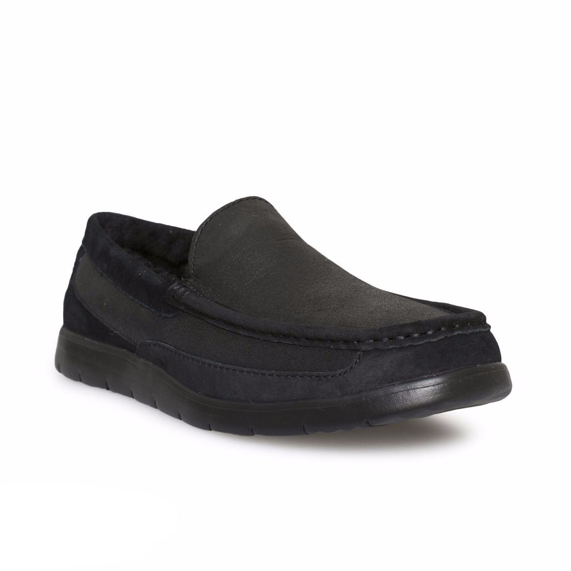 UGG Fascot Bomber Jacket Black Slippers