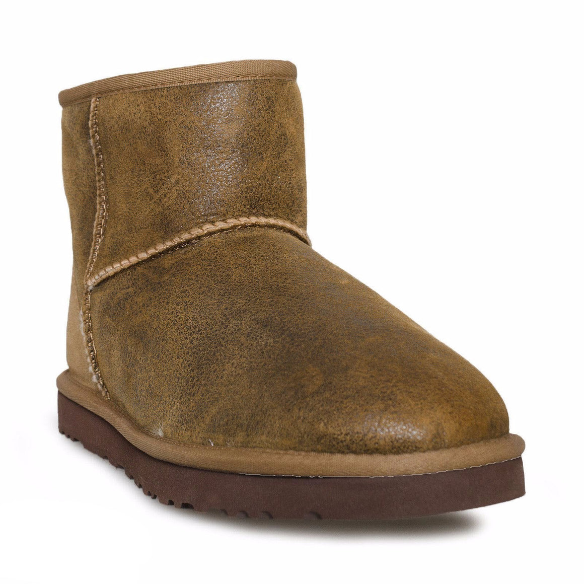 UGG Classic Mini Bomber Leather Chestnut Boots - Men's