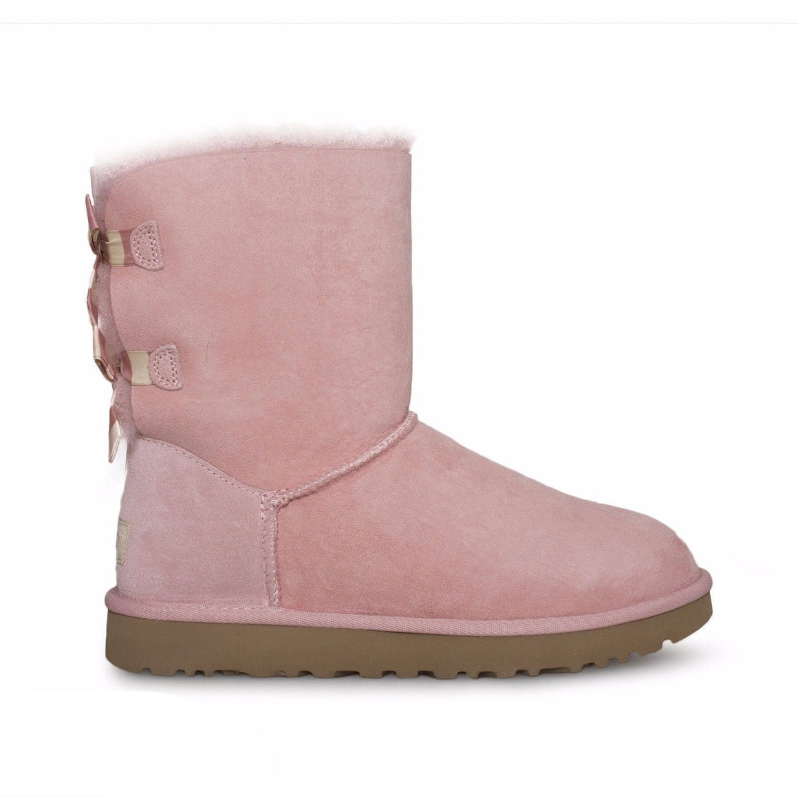 UGG Bailey Bow Stripe Blush Pink Boots