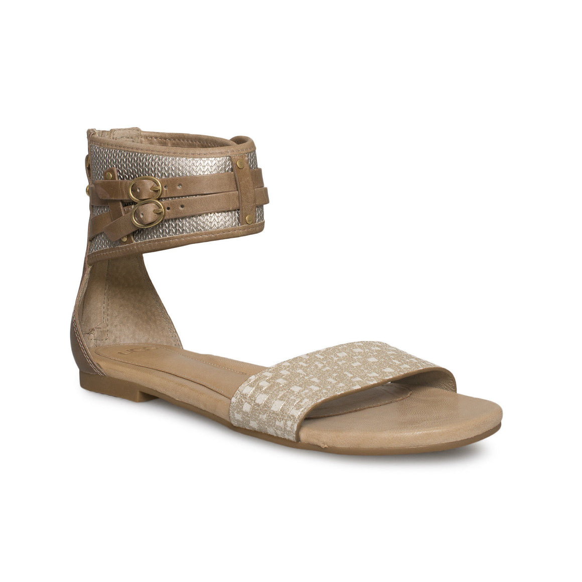 UGG Savana Metallic Soft Gold Sandals