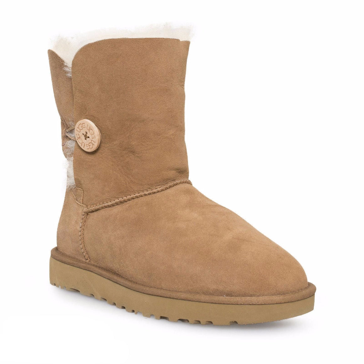 UGG Bailey Button II Chestnut Boots - Youth